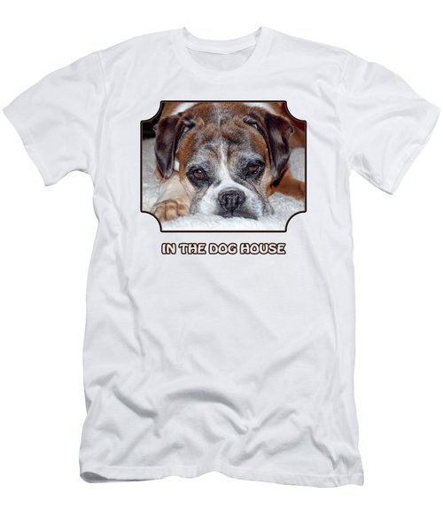 In The Dog House - White Men's T-Shirt (Athletic Fit)