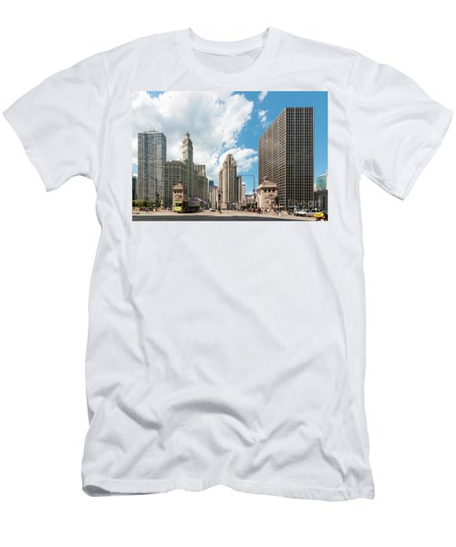 In The Middle Of Wacker And Michigan Men's T-Shirt (Athletic Fit)