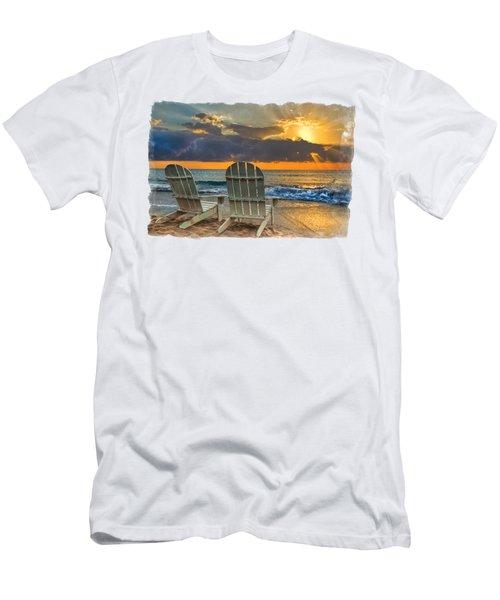 In The Spotlight Bordered Men's T-Shirt (Slim Fit) by Debra and Dave Vanderlaan