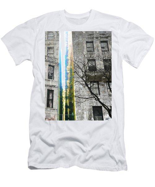 Men's T-Shirt (Slim Fit) featuring the mixed media Inbetween  by Tony Rubino