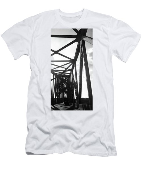 Men's T-Shirt (Slim Fit) featuring the photograph Indefinite Sight Bw by Jamie Lynn