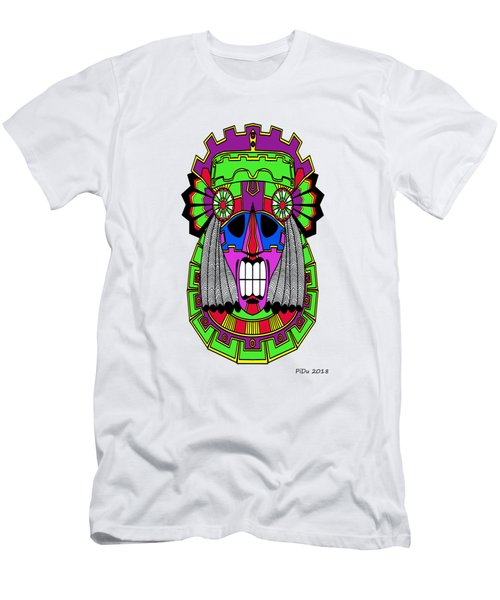 Indian Mask Men's T-Shirt (Athletic Fit)