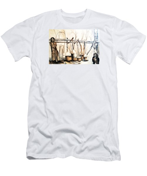 Indians Making Maple Sugar. Cass Lake. 1905  Men's T-Shirt (Athletic Fit)