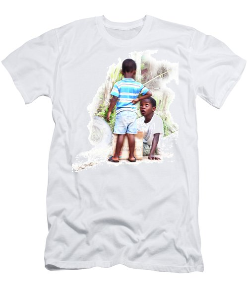 Indigenous Caribbean Kids In Panama Men's T-Shirt (Athletic Fit)