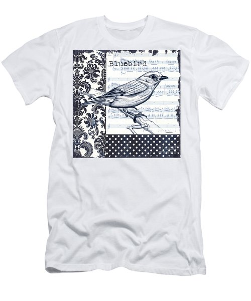 Indigo Vintage Songbird 1 Men's T-Shirt (Athletic Fit)