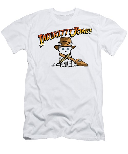 Indikitty Jones Men's T-Shirt (Athletic Fit)