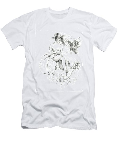 Inhabitants Of The Sky Realm Men's T-Shirt (Slim Fit) by Anna Ewa Miarczynska