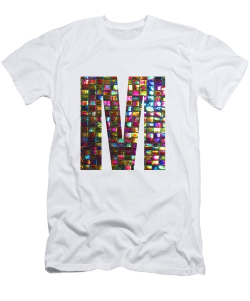 Initial Identity M Mm Mmm Alpha Alphabet Decorations Signature At By Navinjoshi From Canada At Fine Men's T-Shirt (Athletic Fit)