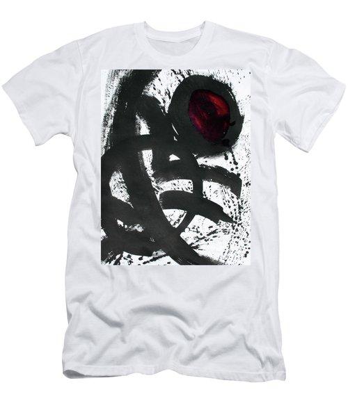 Ink On Paper Rose #2 Vertical Ink Landscape Original Fine Art Ink On Paper Men's T-Shirt (Athletic Fit)