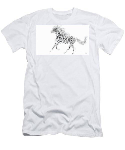 Men's T-Shirt (Slim Fit) featuring the drawing Ink Splattered Stallion by Nick Gustafson