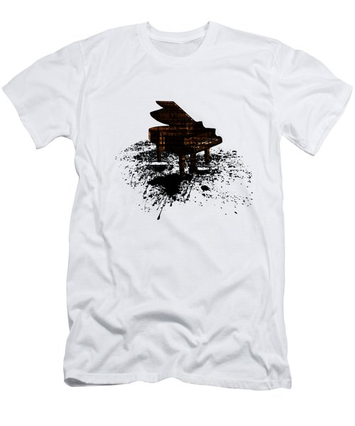 Inked Gold Piano Men's T-Shirt (Slim Fit) by Barbara St Jean