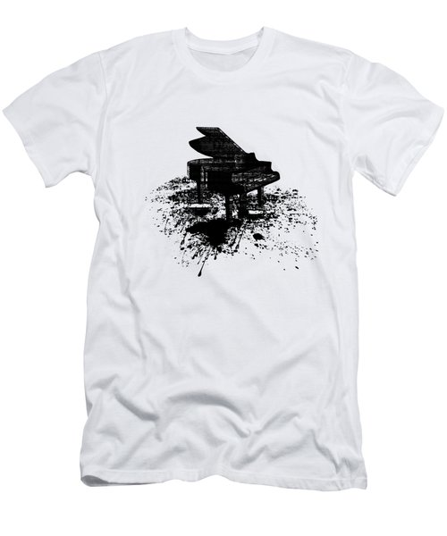 Inked Piano Men's T-Shirt (Slim Fit) by Barbara St Jean
