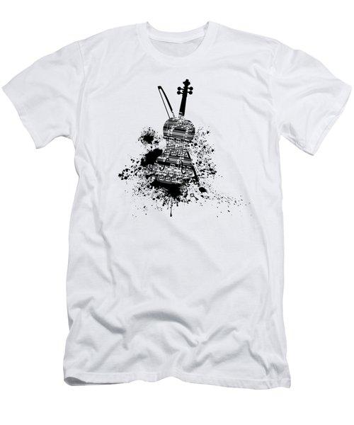 Inked Violin Men's T-Shirt (Slim Fit) by Barbara St Jean