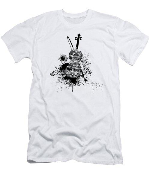 Inked Violin Men's T-Shirt (Athletic Fit)