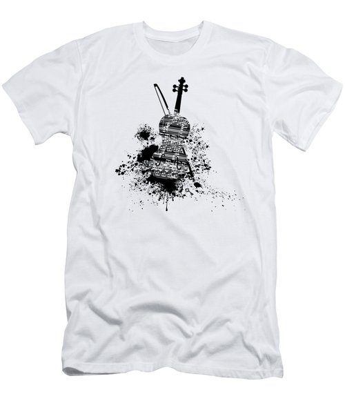 Inked Violin Men's T-Shirt (Athletic Fit)