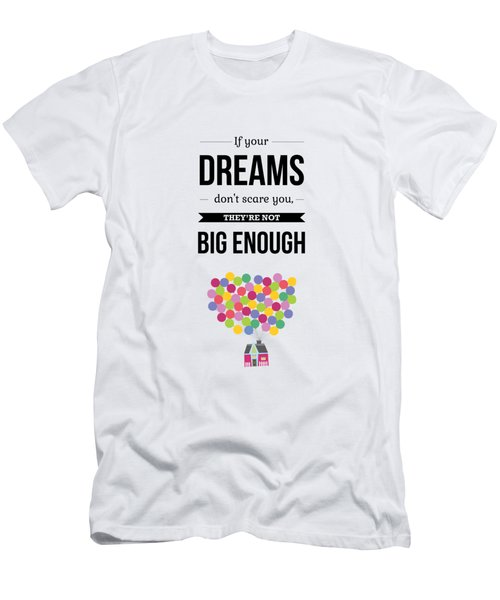 Inspirational Motivational Art Wall Quotes Poster Men's T-Shirt (Athletic Fit)