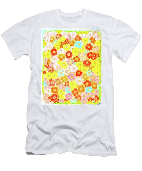 Men's T-Shirt (Slim Fit) featuring the painting Inspired By Persimmon by Lorna Maza