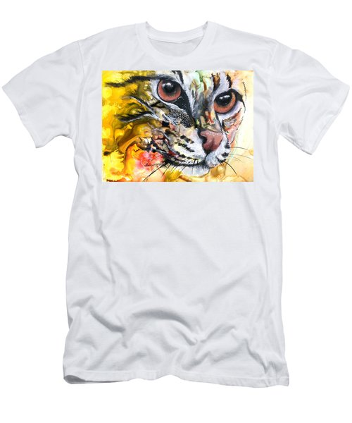 Men's T-Shirt (Slim Fit) featuring the painting Intensity by Sherry Shipley