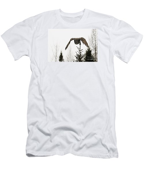 Men's T-Shirt (Slim Fit) featuring the photograph Intent On His Prey by Larry Ricker