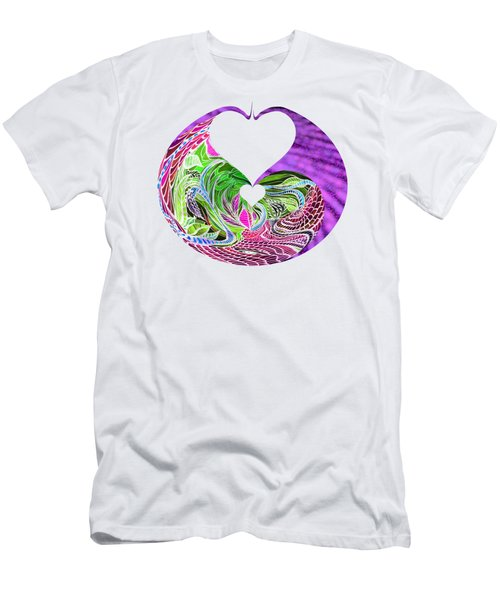 Invert Hearts Men's T-Shirt (Slim Fit) by Adria Trail