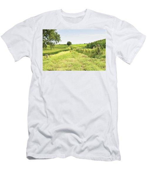 Iowa Corn Field Men's T-Shirt (Athletic Fit)