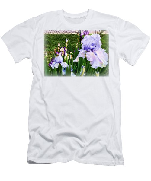 Iris At Fence Men's T-Shirt (Slim Fit) by Larry Bishop