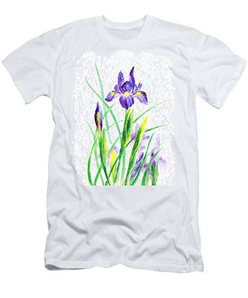 Iris Flowers Botanical  Men's T-Shirt (Athletic Fit)