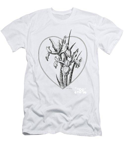 Iris Heart Drawing 3 Men's T-Shirt (Athletic Fit)