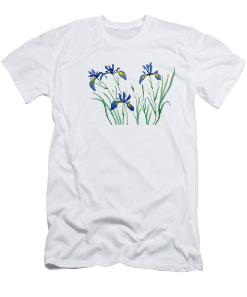 Iris In Japanese Style Men's T-Shirt (Athletic Fit)