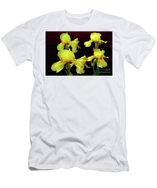 Men's T-Shirt (Slim Fit) featuring the photograph Irises Yellow by Jasna Dragun