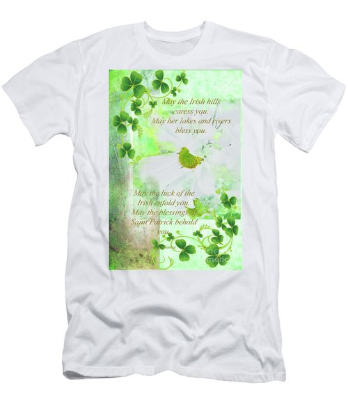 6f6077b22 Irish Blessing Daisy And Shamrock Greeting Men's T-Shirt (Athletic Fit)