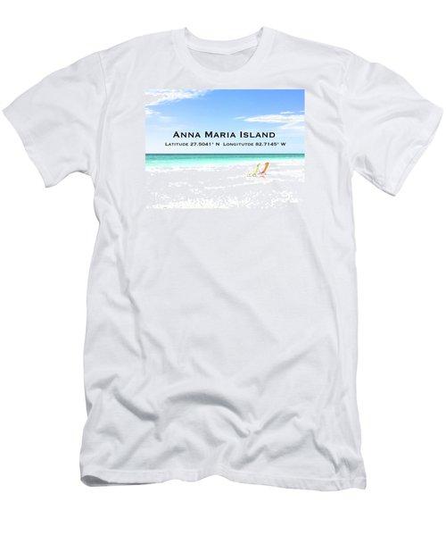 Island Breezes Men's T-Shirt (Slim Fit) by Margie Amberge