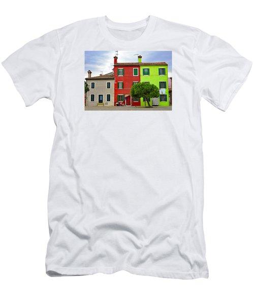 Island Of Burano Tranquility Men's T-Shirt (Slim Fit) by Richard Rosenshein