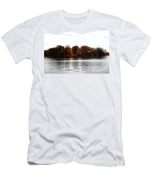 Island Of Trees Men's T-Shirt (Slim Fit) by Ana Mireles