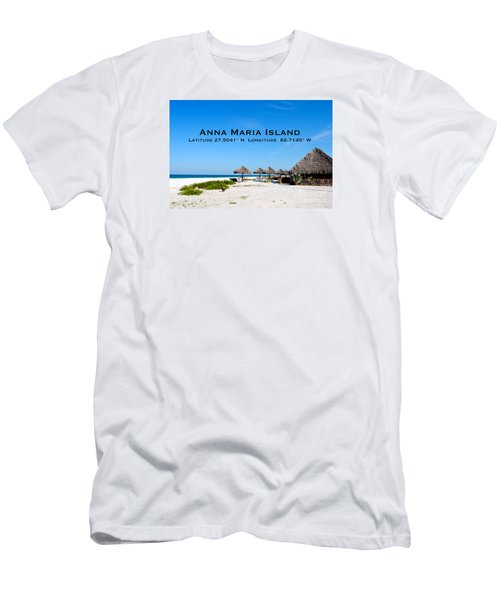 Island Time Men's T-Shirt (Slim Fit) by Margie Amberge