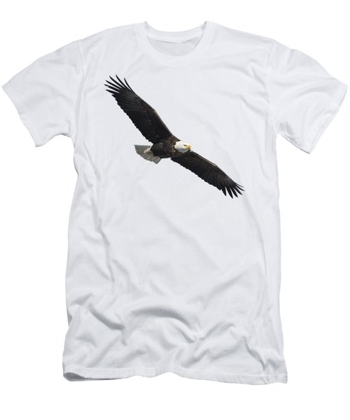 Men's T-Shirt (Slim Fit) featuring the photograph Isolated American Bald Eagle 2016-2 by Thomas Young