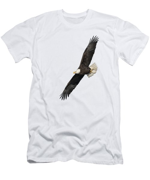 Men's T-Shirt (Slim Fit) featuring the photograph Isolated American Bald Eagle 2016-3 by Thomas Young