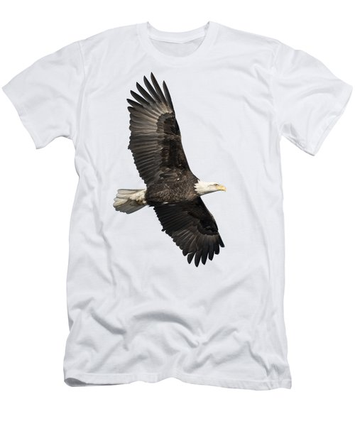 Men's T-Shirt (Slim Fit) featuring the photograph Isolated American Bald Eagle 2016-4 by Thomas Young