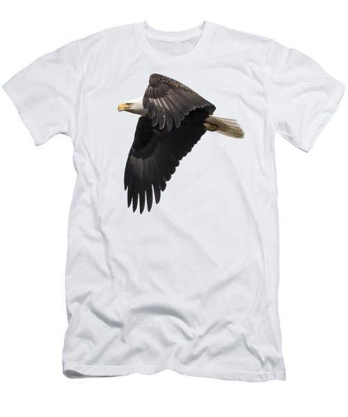 Men's T-Shirt (Slim Fit) featuring the photograph Isolated American Bald Eagle 2016-6 by Thomas Young
