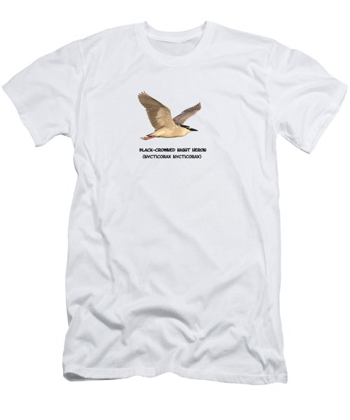 Isolated Black-crowned Night Heron 2017-6 Men's T-Shirt (Slim Fit) by Thomas Young