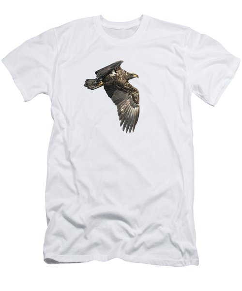 Men's T-Shirt (Slim Fit) featuring the photograph Isolated Eagle 2017-2 by Thomas Young