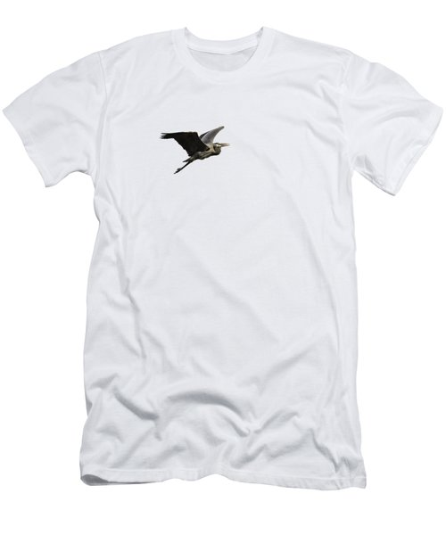 Men's T-Shirt (Slim Fit) featuring the photograph Isolated Great Blue Heron 2015-3 by Thomas Young