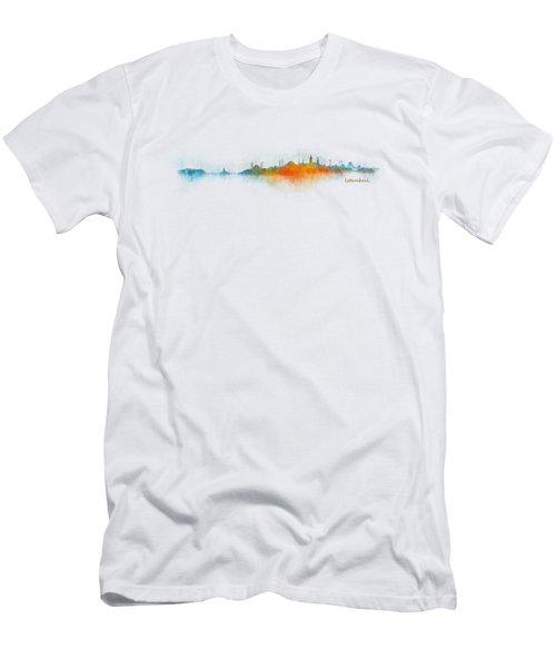 Istanbul City Skyline Hq V03 Men's T-Shirt (Slim Fit) by HQ Photo