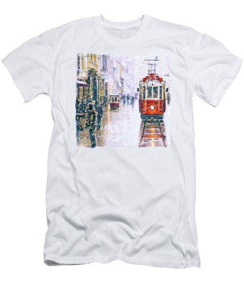 Istanbul Nostalgic Tramway Men's T-Shirt (Athletic Fit)