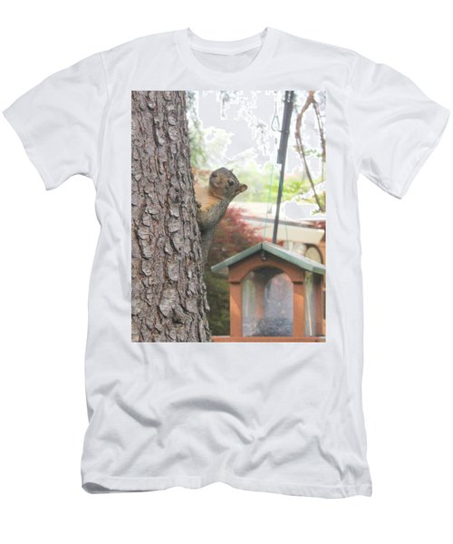 Men's T-Shirt (Slim Fit) featuring the photograph It Was Not Me I Tell Yuh by Marie Neder