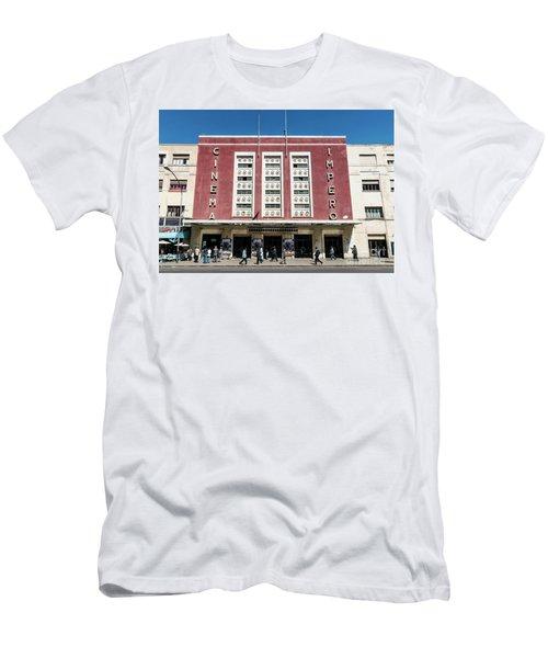 Italian Colonial Art Deco Old Cinema Building In Asmara Eritrea Men's T-Shirt (Athletic Fit)