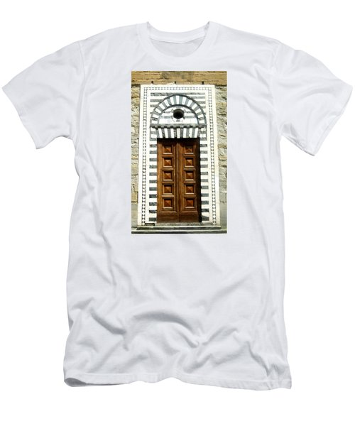 Italy, Door, Florence, Firenze Men's T-Shirt (Slim Fit) by Lisa Boyd