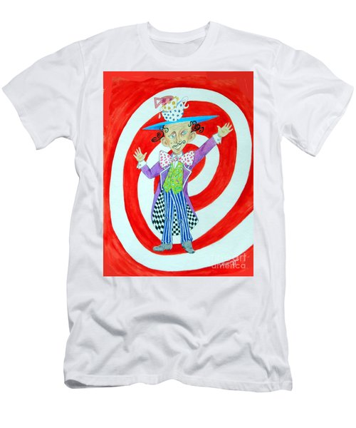 It's A Mad, Mad, Mad, Mad Tea Party -- Humorous Mad Hatter Portrait Men's T-Shirt (Athletic Fit)