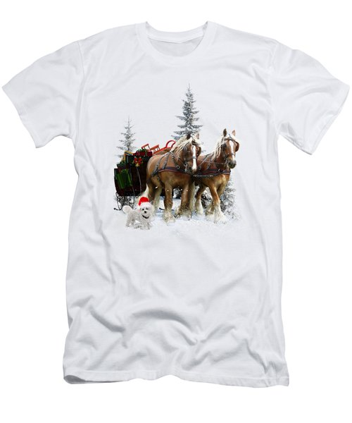 Men's T-Shirt (Slim Fit) featuring the painting A Christmas Wish by Shanina Conway