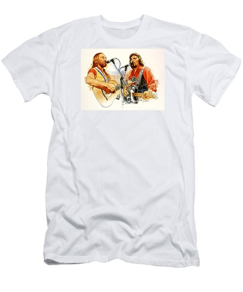 Its Country - 7  Waylon Jennings Willie Nelson Men's T-Shirt (Slim Fit) by Cliff Spohn